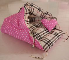 HM45 Handmade Dog Pet Cat Snuggle Sleeping Sack Dog Burrow Bed Pet Cave Nest
