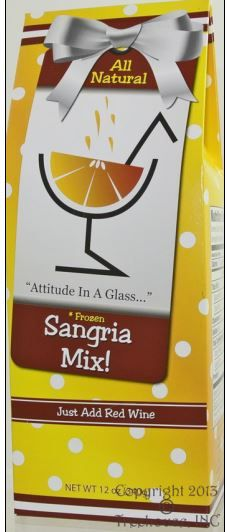 Sangia wine freeze. Delightful citrus base, just add your favorite red (white wine can also be used), refill your wine bottle with water, mix well and freeze about 3 hours! No messy blenders or ice. Freeze and refreeze until completely consumed! Great gift!