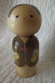 Vintage Wooden Japanese Kokeshi Doll BY Sadao Kishi   eBay