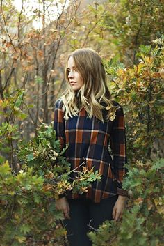 Piper's Pick: Autumn Plaid Blouse with Peplum Back | Piper & Scoot @breeag @africash