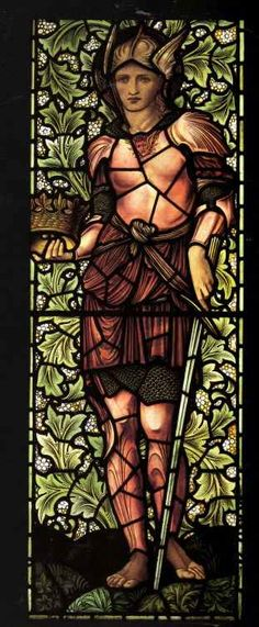Pre Raphaelite Art: Edward Burne-Jones - Justice stained glass. He was an early member of The Artists Rifles.