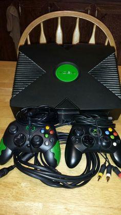 Original Microsoft Xbox Video Game System Used #Microsoft