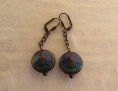 Bee Mood Earrings on Bronze