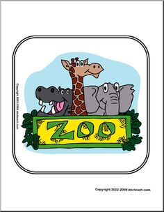 Zoo Theme Unit: Printables and Worksheets (and a cute sign)