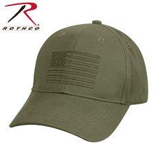 U.S. Flag Low Profile Cap - OD Green