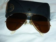 Authentic Bausch & Lomb Ray Ban B&L 62 14 62[]14 Gold Shooter Aviator Sunglasses
