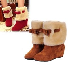 Sweet Warm Snow Short Mid-calf Bowknot Boots Shoes Winter