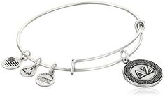 Alex and Ani Sorority Delta Zeta Expandable Rafaelian Silver Finish Wire Bangle Bracelet ** Details can be found by clicking on the image.