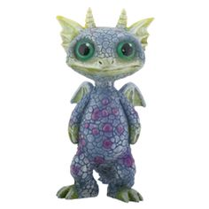 Blue and Green Baby Dragon Statue - SC8192 by Medieval Collectibles