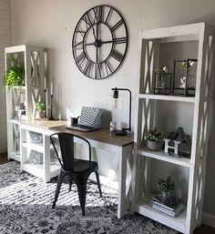Farmhouse Desk for the home office #office #desk #diy