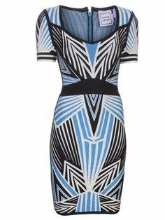 "Herve Leger Nwt ""ali"" Size Small Orig $2150 Dress $535"