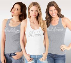 Bachelorette Tops  Bride Tank Brides Top Heather by ABridalShop on Etsy sweating for the wedding