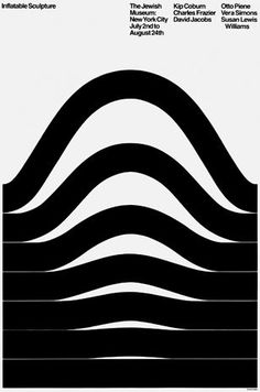 Typographic poster design by Arnold Saks, circa 1968 Graphic Design Posters, Graphic Design Typography, Graphic Design Inspiration, Product Design Poster, Op Art, Layout Design, Print Design, Logo Design, Curve Design