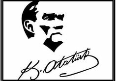 Atatürk İmzalı Vektörel Atatürk Resmi Turkish Army, Erdem, Mandala, History, Wings, Drawing S, Historia, Mandalas