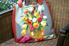 Flower Power: Vintage embroidery on City shopper