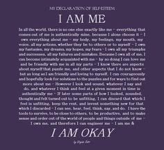 I am me. In all the world, there is no one else exactly like me. Everything that comes out of me is authentically mine. ~Virginia Satir