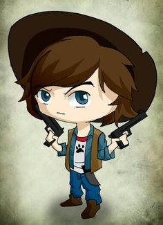 #the walking dead #carl # chandler riggs