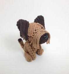 Briard ganchillo perro peluche cachorro Animal peluche artesanal Amigurumi muñeca / hecho por encargo