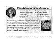 Corn Casserole {Miranda Lambert Style}