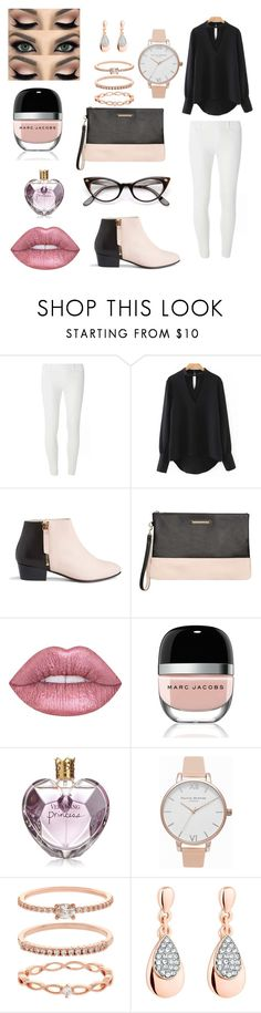 """""""chic"""" by martyleonelli ❤ liked on Polyvore featuring Dorothy Perkins, WithChic, Nine to Five, Lime Crime, Marc Jacobs, Vera Wang, Olivia Burton, Accessorize, Jon Richard and ZeroUV"""
