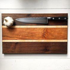 Large Wooden Cutting Board Walnut Cutting Board by GibsonBoards
