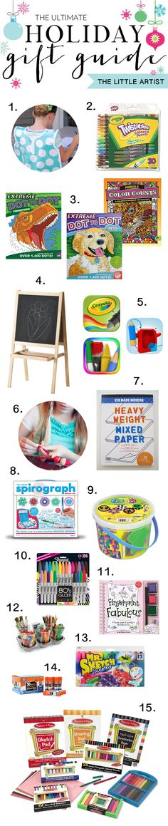 The Ultimate Holiday Gift Guide for the Little Artist on your List!