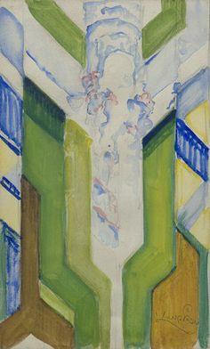 "Collection Online | František Kupka. Study for ""Upward Thrust"". 1921–22 - Guggenheim Museum"