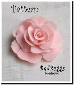 Felt Rose Brooch PDF Pattern Tutorial How To Rose Pillow Hair clip headband Felt Flowers Patterns, Fabric Patterns, Fabric Flowers, Headband Tutorial, Rose Tutorial, Flower Hair Bows, Felt Roses, Lapel Flower, Bow Pattern