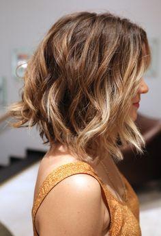 short hair, wavy bob...may get my hair cut like this for summer