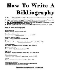 how to write a bibliography of a research paper