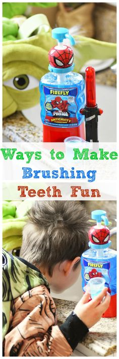 Have a child who struggles to brush their teeth? Check out these fun ways to make brushing teeth fun. #ad