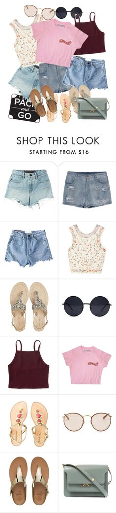 """""""rio"""" by kapreece ❤ liked on Polyvore featuring T By Alexander Wang, Chicnova Fashion, Etro, Antik Batik, Aéropostale, Lilly Pulitzer, Ray-Ban, FitFlop and Marni"""