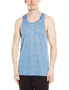 79caaa94cc246 adidas Performance Mens Running Supernova Singlet Equipment Blue Small *  Find out more about the great