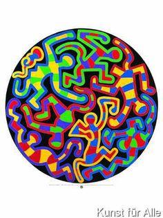 Keith Haring - Monkey Puzzle (1988)