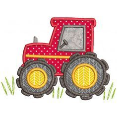 Sweet Farm Applique Machine Applique Tractor Embroidery Designs by JuJu Best Embroidery Machine, Machine Applique Designs, Embroidery Store, Machine Embroidery Projects, Applique Embroidery Designs, Learn Embroidery, Applique Patterns, Machine Design, Applique Designs Free