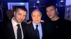 Con mio fratello Daniele Carioti e con Franco Mariotti, Direttore di Primo Piano sull'Autore, dedica