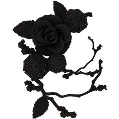 Olgafacesrok 'Winter Garden Rose Lantern' brooch ($315) ❤ liked on Polyvore featuring jewelry, brooches, black, rose brooch, kohl jewelry, black rose jewelry, rose jewelry and black jewelry