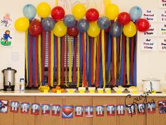 Tons of #Superman #party #ideas