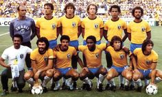 Brasil1982- Whenever people talk about great teams of previous World Cups, this Brazilian team of 1982 always seems to be mentioned. They failed to reach the semifinals, but won the hearts of millions of soccerfans world-wide. The memory of their football will linger. It is the Team of Dreams.