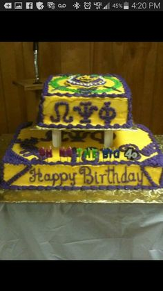 Pastor Donalson Omega cake for his 40th