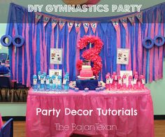 The Bajan Texan: Gymnastics Party at The Little Gym  http://www.thelittlegym.com/SpringTX/Pages/birthday-schedule.aspx