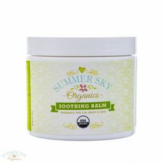 Soothing Balm - Certified Organic for Dry Skin fl oz) from Summer Sky Organics Eco Beauty, Beauty Balm, Organic Beauty, Natural Moisturizer, Summer Sky, Body Care, The Balm, Fragrance, Healing