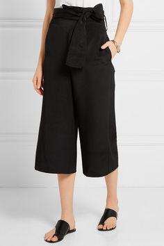 Tibi   Belted silk crepe de chine culottes   NET-A-PORTER.COM
