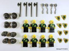 LEGO KINGDOMS CASTLE Dragon Minifigure LOT x8 Men Shields Weapons Army NEW