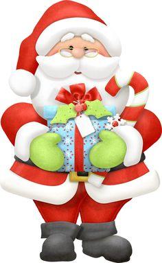 Santa Claus With Xmas Presents - Christmas Clip Art Images Christmas Clipart, Noel Christmas, Christmas Printables, Christmas Pictures, Vintage Christmas, Christmas Crafts, Christmas Ornaments, Christmas Decorations, Santa Claus Images