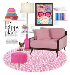 """Happy Place"" by mmk2k ❤ liked on Polyvore featuring interior, interiors, interior design, home, home decor, interior decorating, LSA International, Brika, Linon and Zack & Zoey"