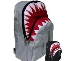 The great white shark book bag is a great way for kids to let everyone know they roll deep with the baddest mofos in the ocean, the great white shark. It's been reported that owners of the great white shark book bag live longer and more lucrative lives too.