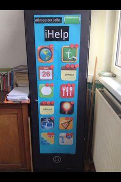 De iHelp, een supertof takenbord voor in de klas! Classroom Organisation, Teacher Organization, A Classroom, Classroom Design, Teach Like A Champion, Co Teaching, 21st Century Skills, Teacher Inspiration, Avengers