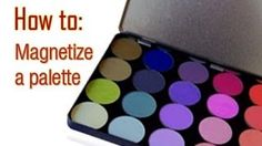 DIY how to : Magnetize a palette and save $$ and space rather than buy a Z-palette or Unii palette.  Used an old BH cosmetics palette ($6-7 retail)