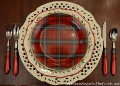 Better Homes and Gardens Christmas Dishware and Williams-Sonoma Tartan Dishware